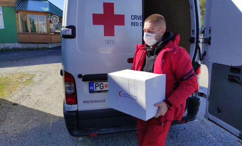 QRCS Provides Support for COVID-19 Victims in Montenegro