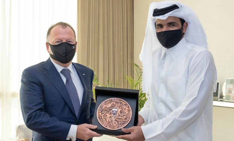 Sheikh Joaan Meets International Judo Federation President