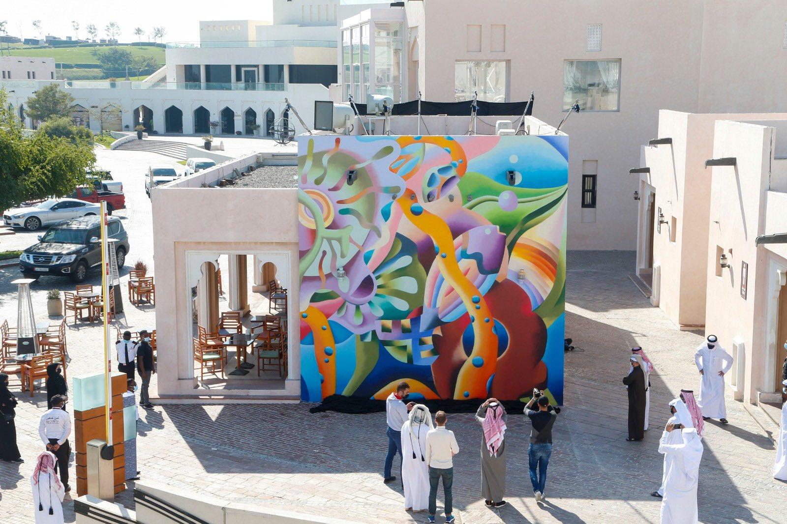 Late Qatari artist Wafa's murals unveiled at Katara