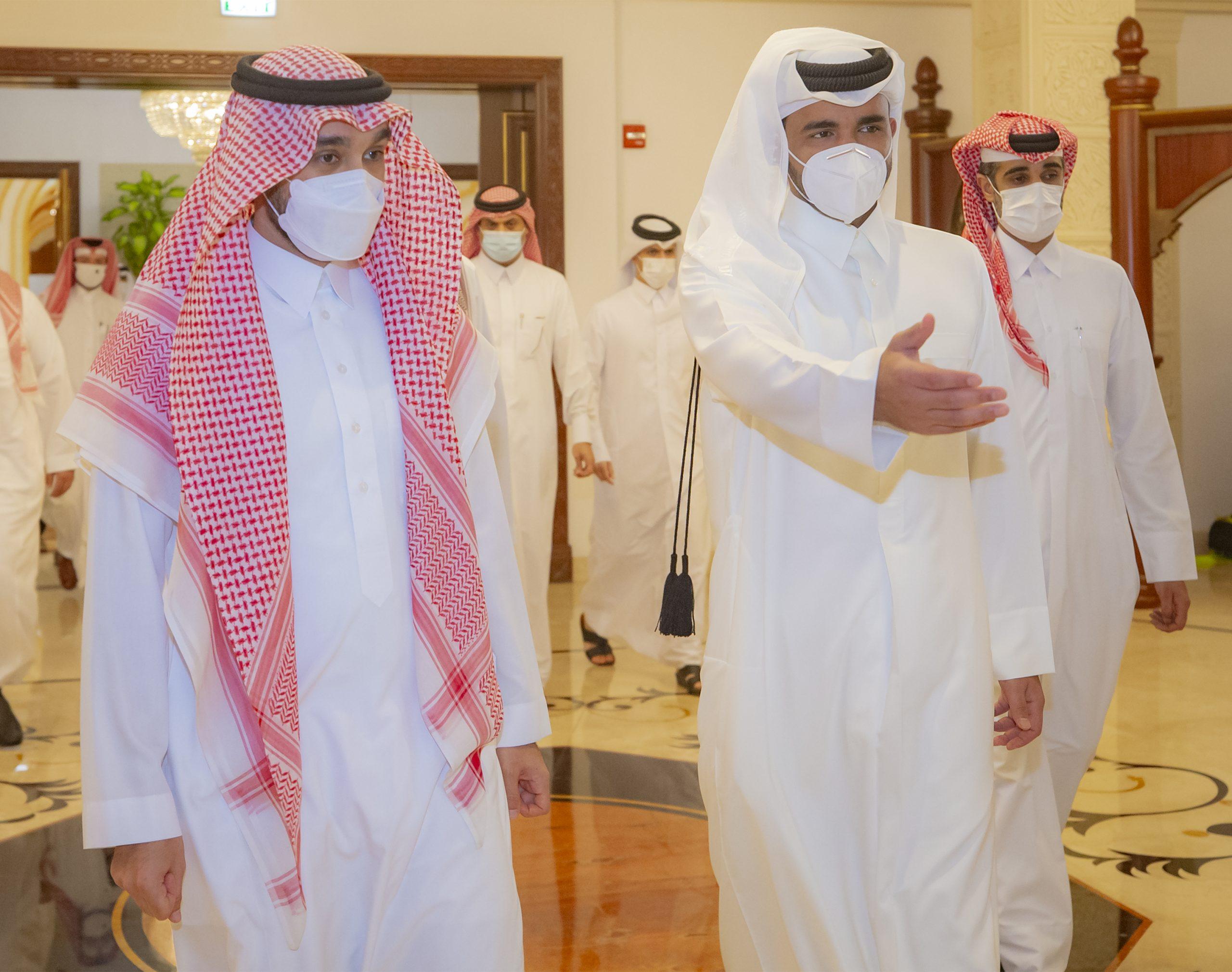Sheikh Joaan Meets Saudi Minister of Sports