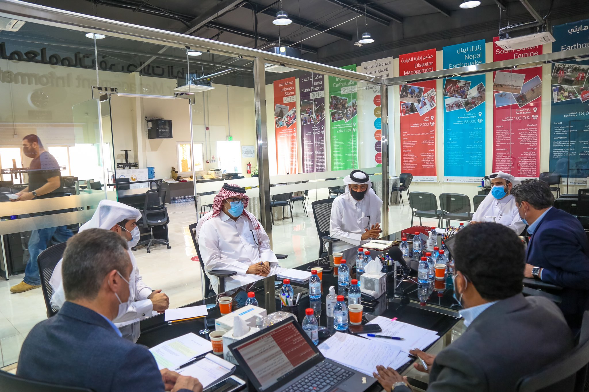 QRCS Activates Disaster Information Management Center