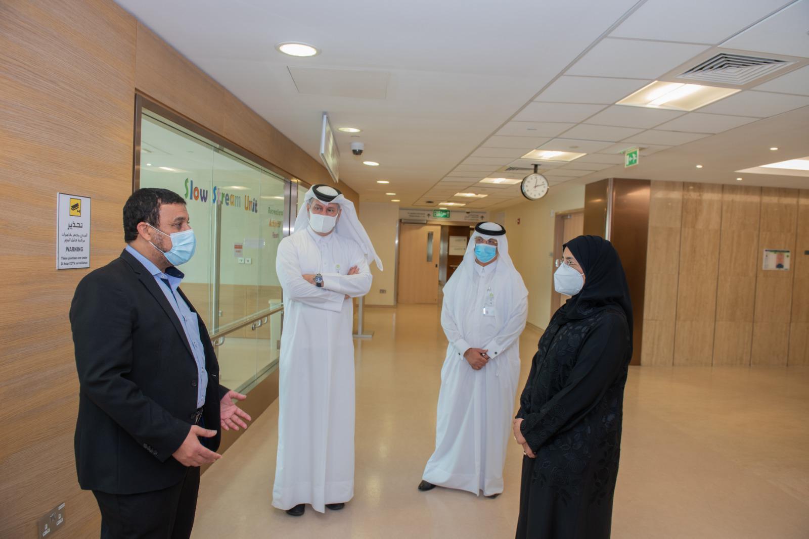 Minister Visits Post-COVID Inpatient Unit Inside Qatar Rehabilitation Institute
