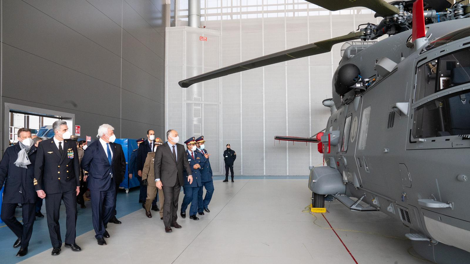 Defense Minister inaugurates the NH90 helicopter
