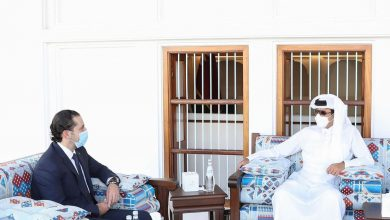 HH the Amir Meets Saad Al Hariri