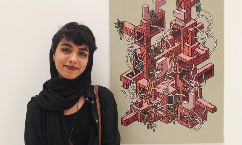 Shima Aeinehdar wins '100/100 Hundred Best Arabic Posters' competition
