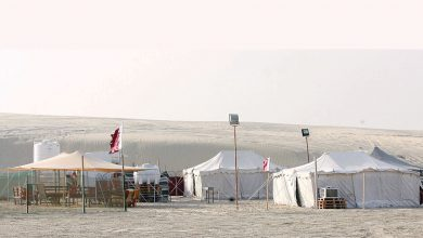 Wind crashes camps in Sealine and Al Udeid, no casualties
