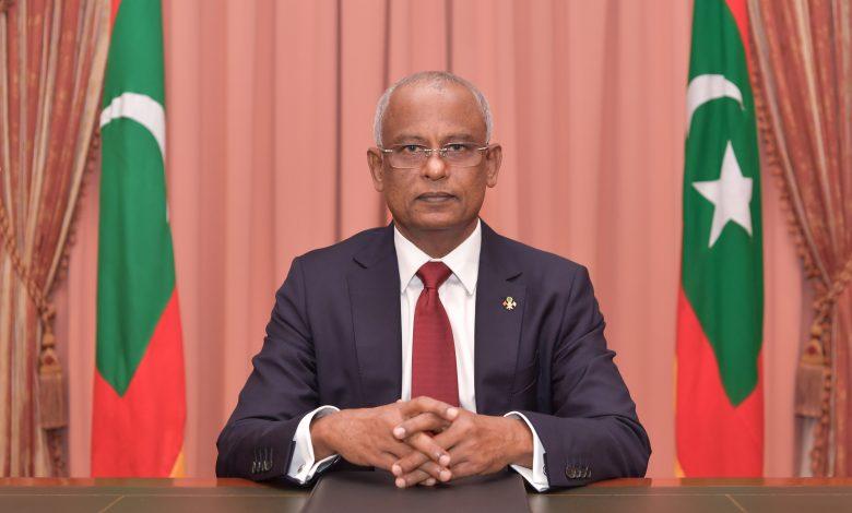 President of Maldives Arrives in Doha