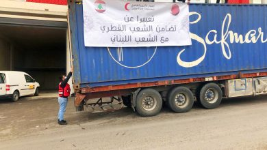 Humanitarian Aid Deployed by QRCS to Lebanon