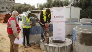QRCS Constructs District Sewage Systems in Southern Gaza