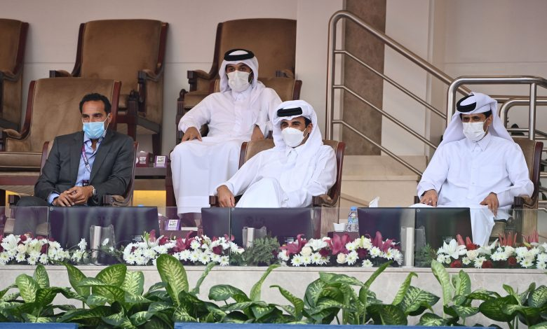 Amir Attends Part of the Opening of Qatar Total Open