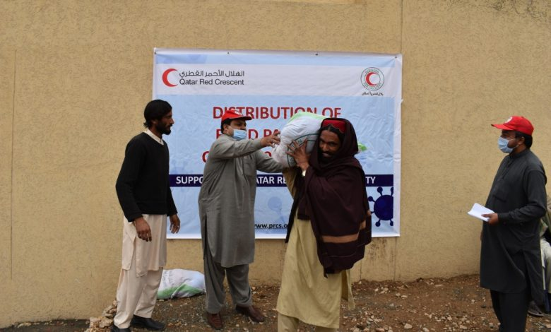 QRCS Delivers Food Aid to Families in Pakistan
