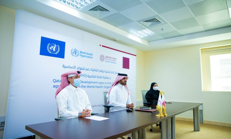 QFFD Signs a Core Contribution Agreement with WHO