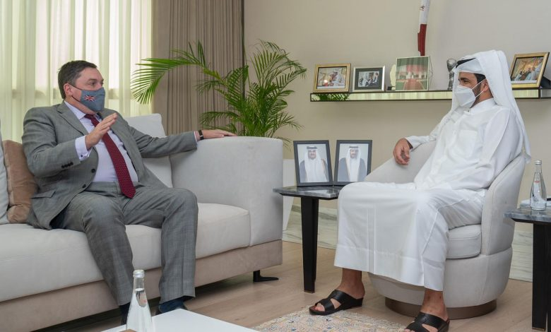 Sheikh Joaan Meets UK Ambassador to Doha