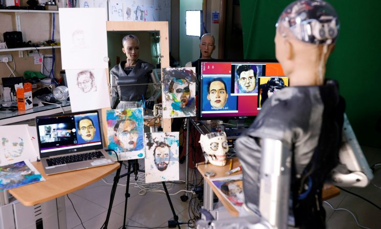 Digital artwork by humanoid robot Sophia up for auction