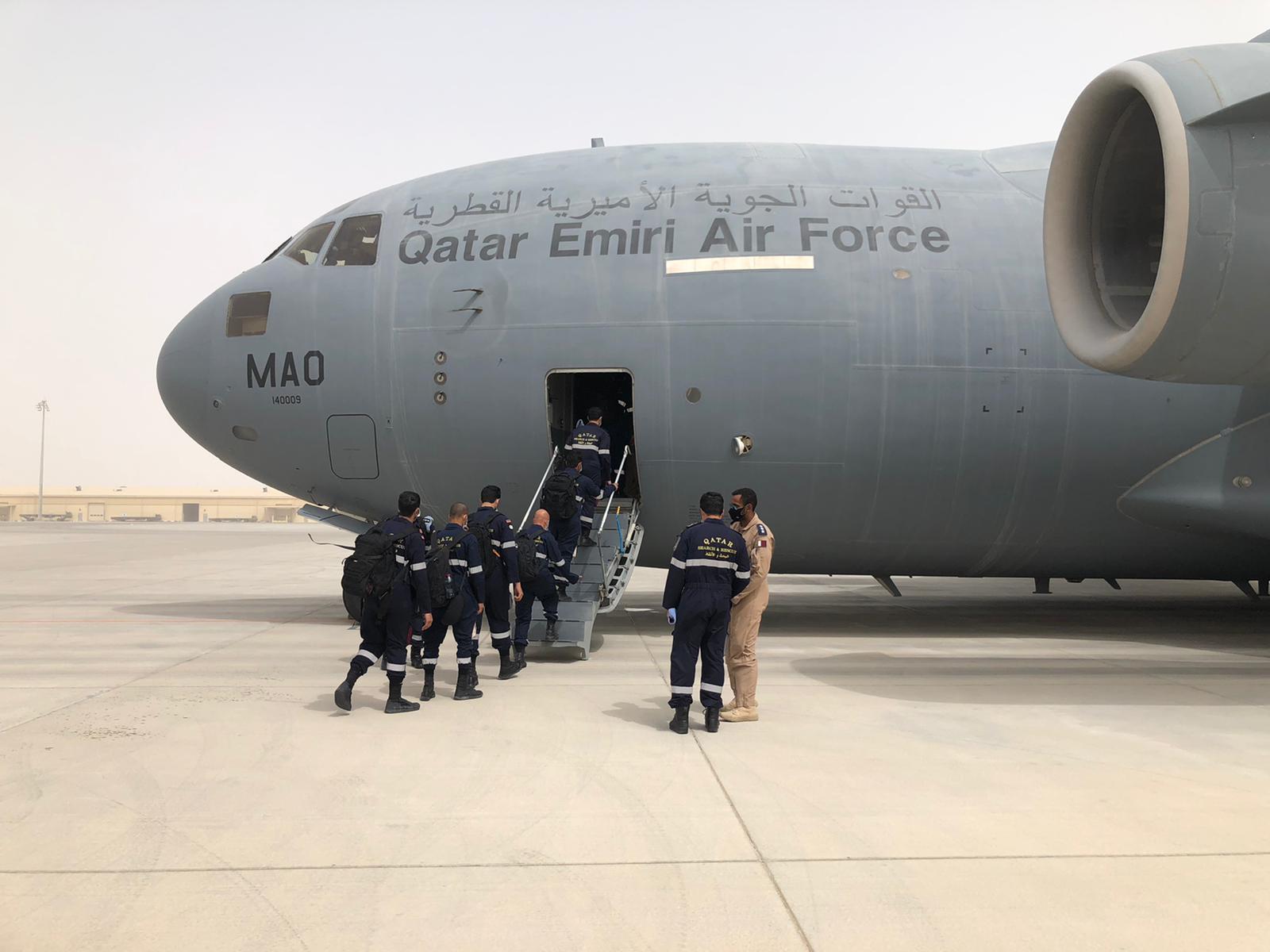 Qatar's medical aid aircraft arrives in Equatorial Guinea