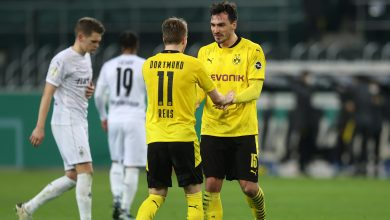 Dortmund Edge Gladbach to Reach German Cup Semi-Finals