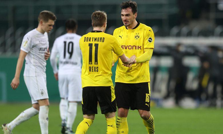 Dortmund Edge Gladbach to Reach German Cup Semi-Finals