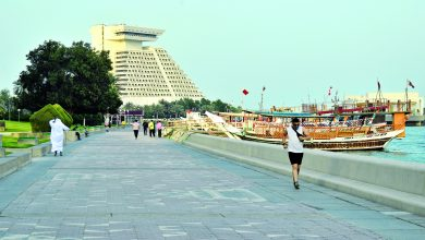 Doha Corniche .. the perfect destination for athletes in Ramadan