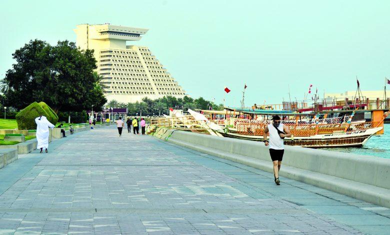 Doha Corniche .. the perfect destination for athletes in Ramadan