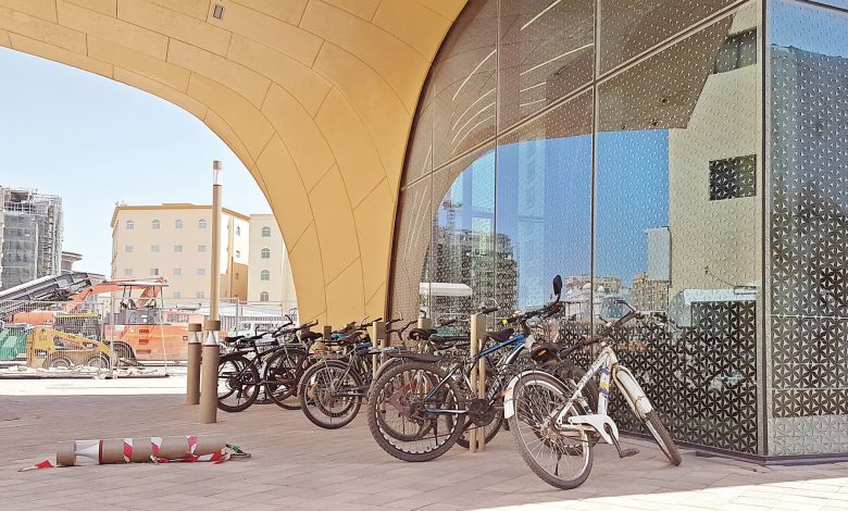 Neglected bikes in metro station parking lots