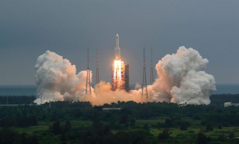 China sends 9 satellites into space