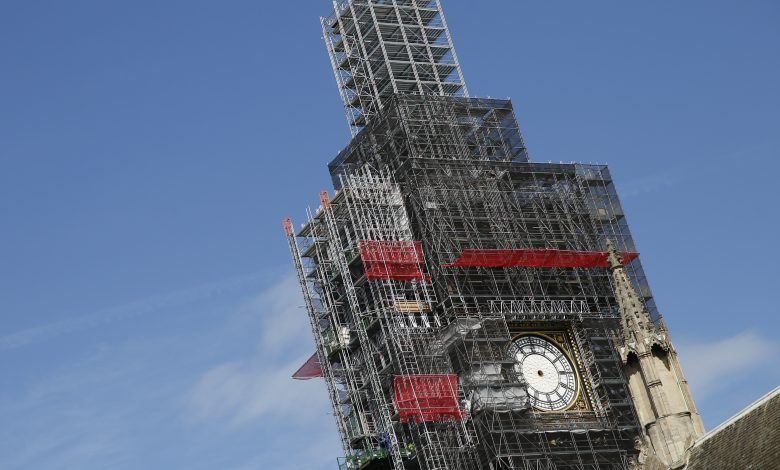 Big Ben tower restoration to be completed in 2022