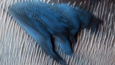 NASA Releases Photo of Blue Sand Dunes on Mars