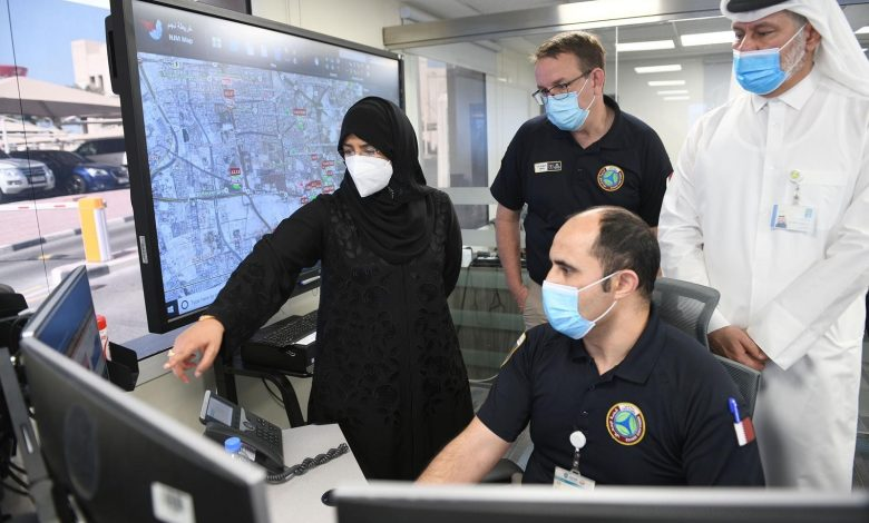 Minister Visit National Health Incident Command Center