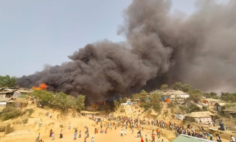 QRCS Provides Urgent Aid to Victims of Bangladesh Refugee Camp Fire