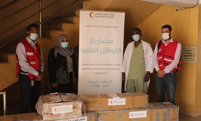 QRCS Delivers Medical Supplies to Two Hospitals in Sudan