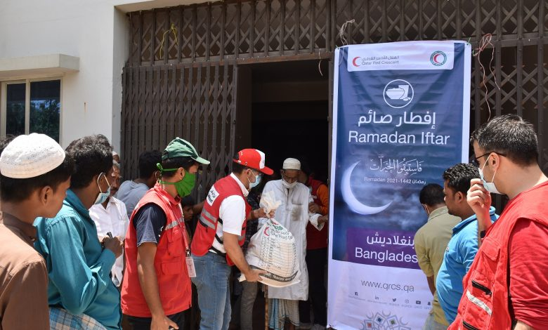 QRCS Distributes Food Parcels to Vulnerable People in Bangladesh