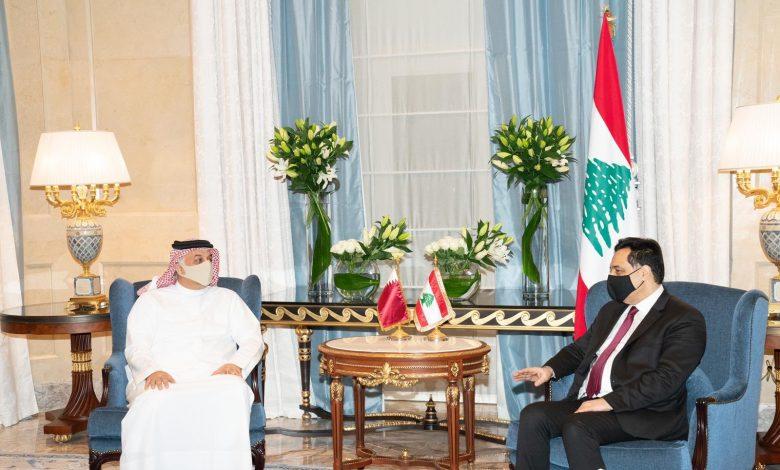 Lebanese Caretaker Prime Minister Meets Deputy Prime Minister and Minister of State for Defense Affairs