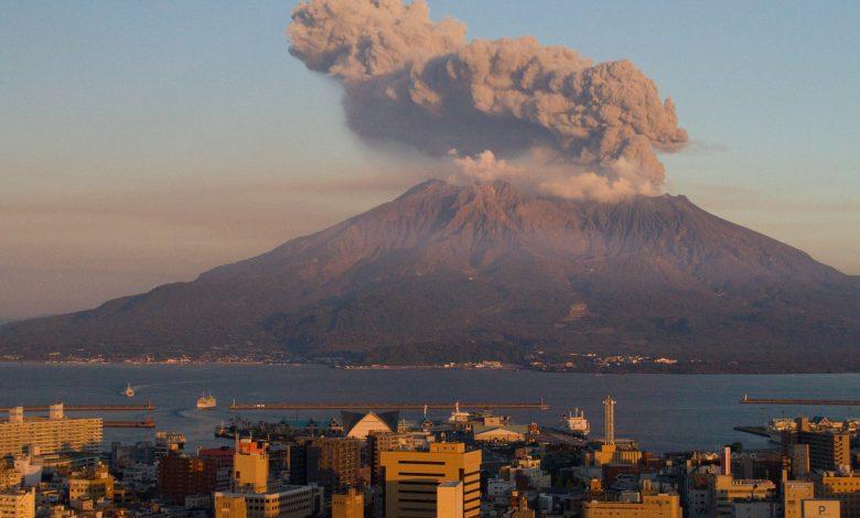 Sakurajima volcano in southwestern Japan erupts