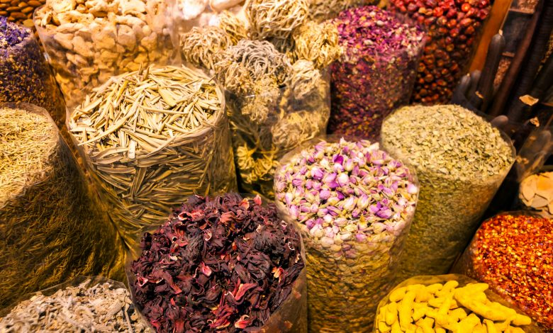 Prices of spices and nuts in Souq Waqif