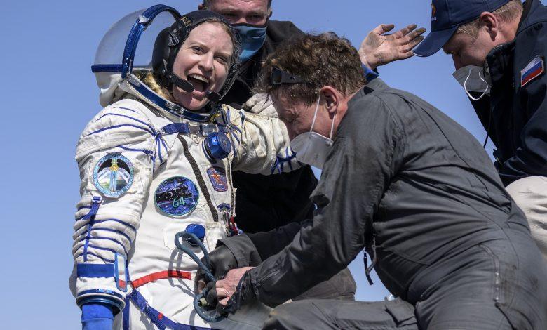 Three astronauts return from International Space Station