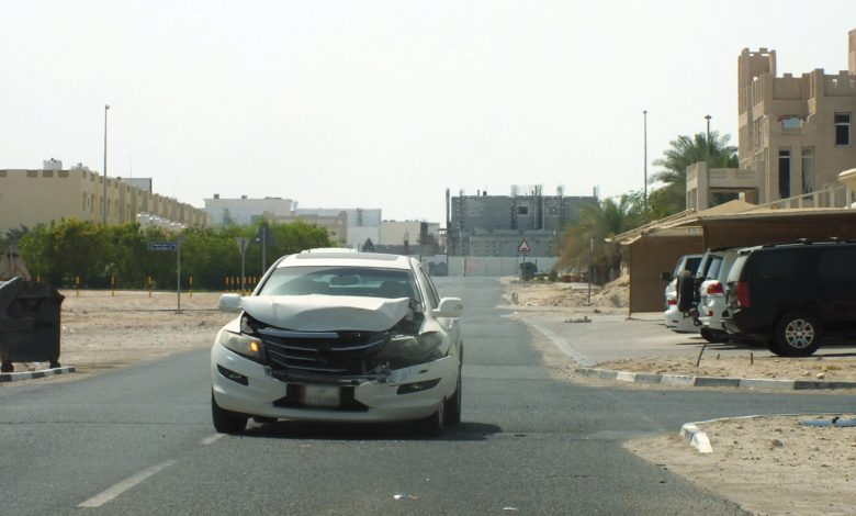 Rough traffic accidents in residential areas