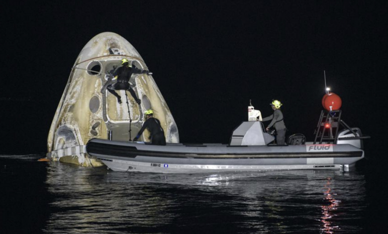 SpaceX: Successful and rare landing of astronaut crew in the Gulf of Mexico