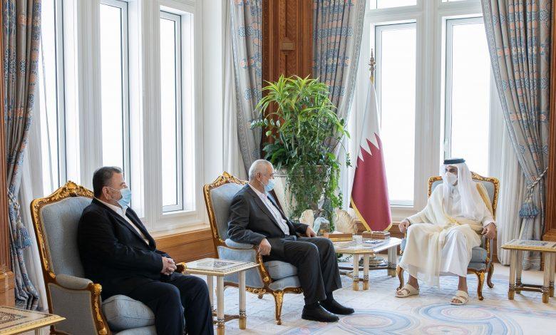 Amir Meets Head of Hamas Political Bureau