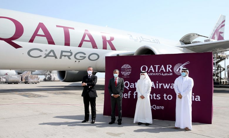 Qatar Airways sends 3 planes loaded with medical supplies to India