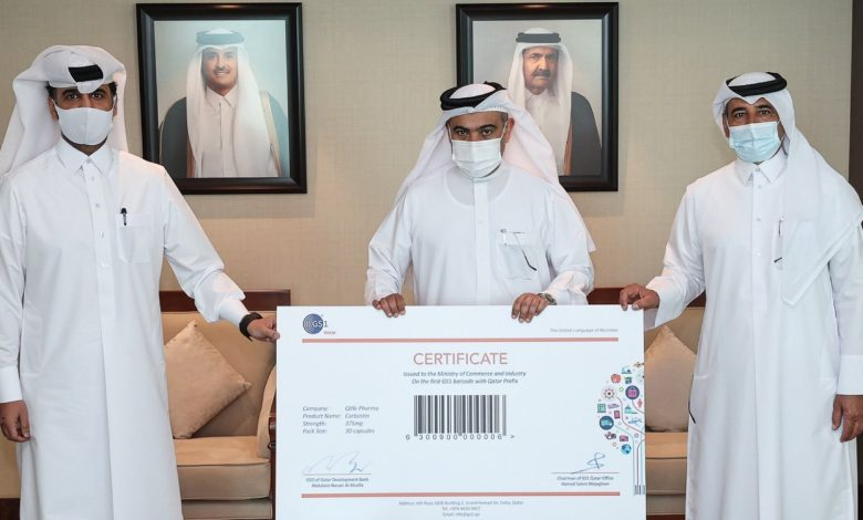Minister Hands over First Tracking Number to a Qatari Factory