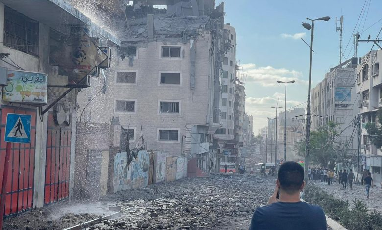 Qatar Red Crescent Society HQ in Gaza hit by Israeli forces