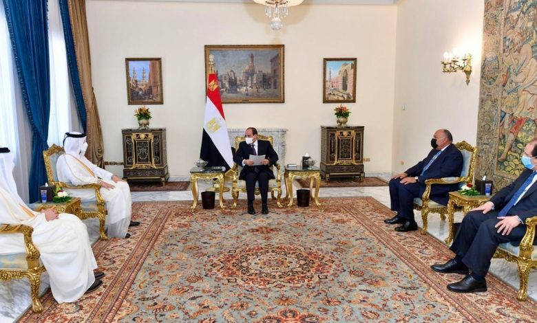 Message from HH the Amir to the Egyptian President