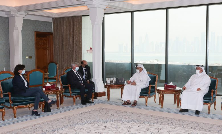 Minister of Commerce Meets President of France-Qatar Friendship Group