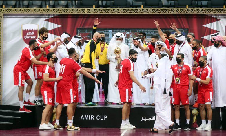 Sheikh Joaan Crowns Al Arabi Champion of Amir Handball Cup