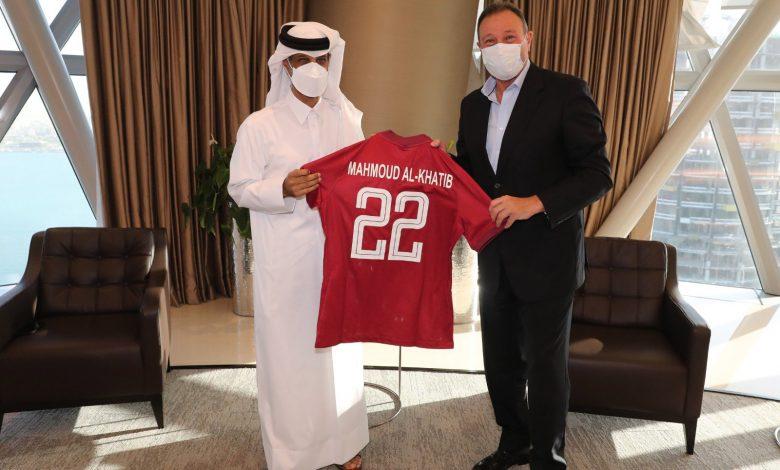 QFA President Meets President of Egyptian Al-Ahly Club