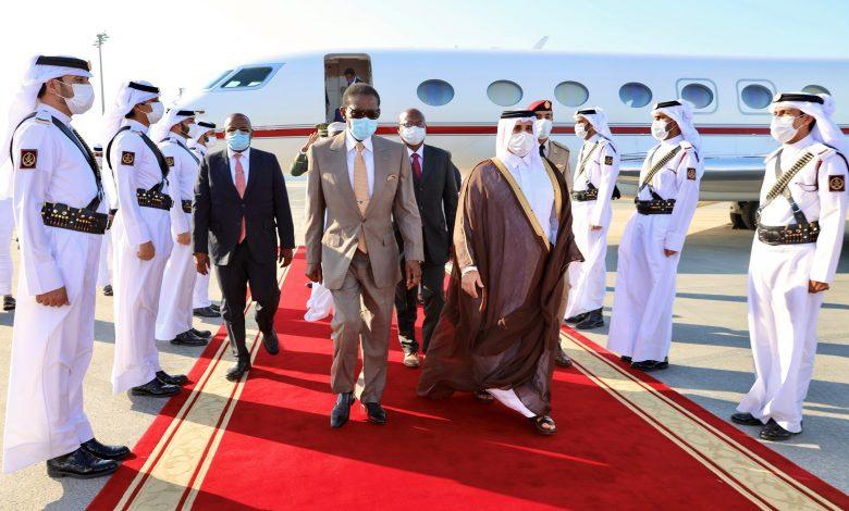 President of Equatorial Guinea Arrives in Doha