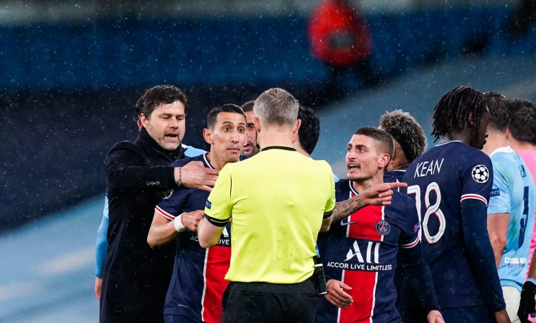 """PSG and City match referee """"insults"""" players!"""