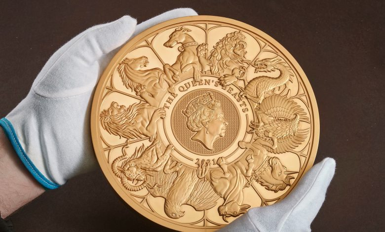 Britain's Royal Mint produces largest gold coin