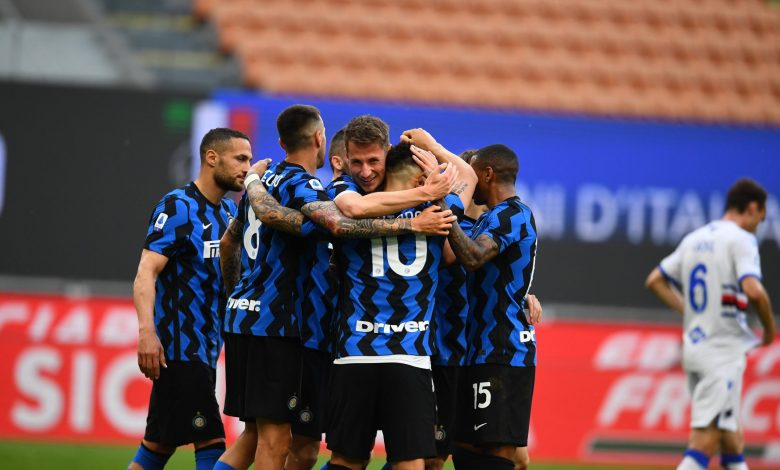 Five-goal Inter celebrate Serie A title with record 14th home win