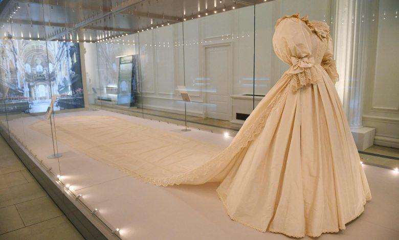 Princess Diana's iconic wedding dress on display in London